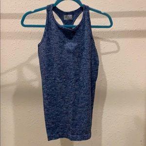 Blue grey heathered workout tank